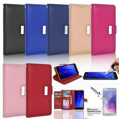 Glass Screen Protector / Double Flap Leather Wallet Case For Mobile Smartphones • 8.46£