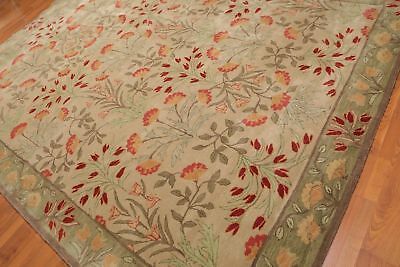 Old Hand Made Beige Traditional Nain Floral Zieglar Oriental Wool Area Rug  • 199£