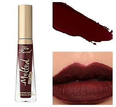 £4.95 • Buy GENUINE TOO FACED MELTED MATTE Long Wear Lipstick DROP DEAD RED 3ml Travel Size