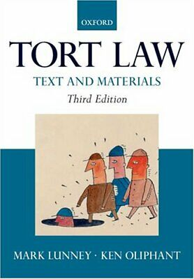 £3.29 • Buy Tort Law: Text And Materials By Oliphant, Ken Paperback Book The Cheap Fast Free