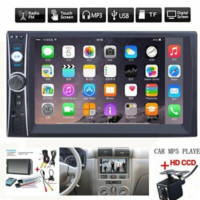$60.99 • Buy 2DIN 7  HD Car Stereo Radio MP5 Player Bluetooth Touch Screen With Rear Camera