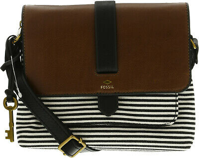 ee71f29bf15a Fossil Women s Small Kinley Cross Body Fabric Bag • 62.85