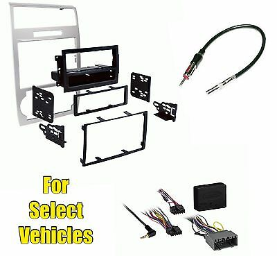 $119 • Buy Silver Stereo Radio Install Dash Trim Bezel Kit Combo W/ W/o Amp Select Cars