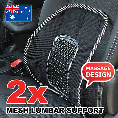 AU13.85 • Buy 2x Mesh Lumbar Back Support Posture Corrector Office Chair Car Seat Home Cushion