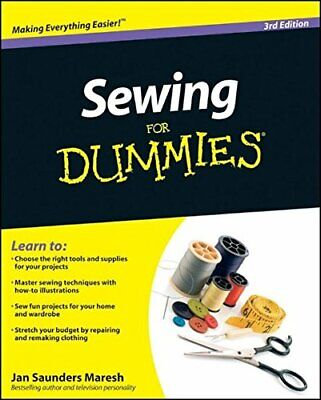 £9.99 • Buy Sewing For Dummies By Saunders Maresh, Jan Paperback Book The Cheap Fast Free