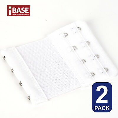 AU5.49 • Buy 2x BRA Extender Elastic 4 Hook Extension Strap Plus Size Clip On Maternity White