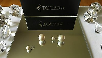 $ CDN30 • Buy Tocara Jewelry New Glass Pearl 'Donna' Earrings Stainless Steel Like Lia Sophia