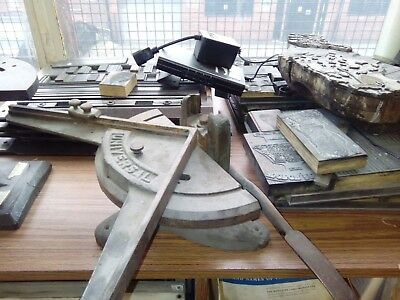 £50 • Buy Printer's Rule Cutter And Mitre Cast Iron