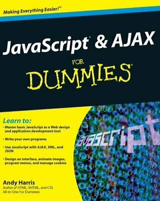 JavaScript & Ajax For Dummies By Harris, Andy Paperback Book The Cheap Fast Free • 6.49£