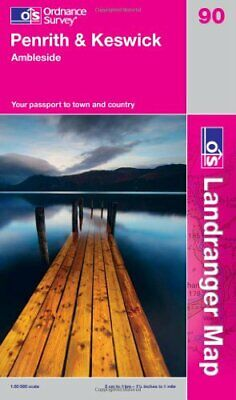 Penrith & Keswick, Ambleside (OS Landranger Map) By Ordnance Survey Book The • 10.41£