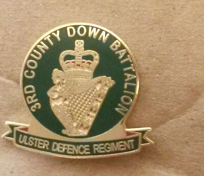 £3 • Buy 3rd County Down Ulster Defence Regiment Udr Badge Army Enamel, Infantry Military