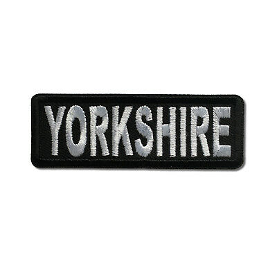 £3.50 • Buy Embroidered 3  Yorkshire Sew Or Iron On Patch Biker Patch