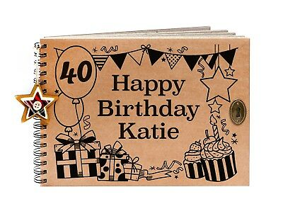 £17.95 • Buy Personalised 40th Birthday Party Guestbook, Photo Album, Scrapbook