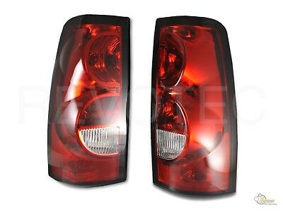$82 • Buy 03-06 Chevy Silverado 1500 2500 Pickup Red Clear OE Style Tail Lights Lamps