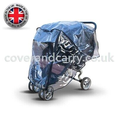 Raincover For Britax B-Agile Double Stroller,UK Made In Clear Supersoft PVC • 23.99£