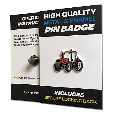 Red Tractor High Quality Metal & Enamel Pin Badge With Secure Locking Back • 3.75£