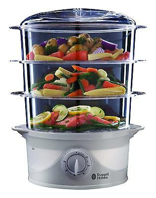 £41.99 • Buy New Russell Hobbs 3 Tier Electric Healthy Food Steamer Steam Pot Cooker Rice Veg