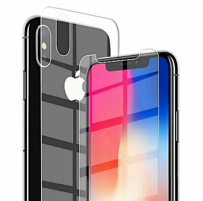 AU6.37 • Buy For IPhone 12 XS Max XR X Front And Back 9H Tempered Glass Screen Protector
