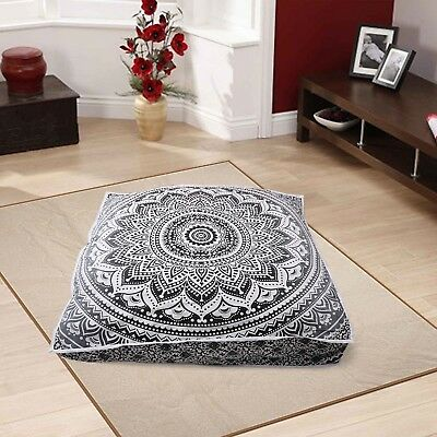 £12.76 • Buy Indian Mandala Square Floor Pillow Cushion Cover Boho Ottoman Pouf Outdoor Bed