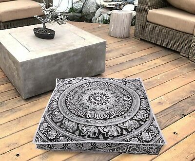 £12.76 • Buy Large Extra Large Square Mandala Floor Cushion Pillow Cover Indian Ottoman Pouf