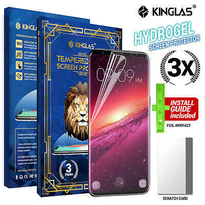 AU5.95 • Buy 3X Kinglas HYDROGEL AQUA FLEX Screen Protector Samsung Galaxy S9 S10 Plus Note 8