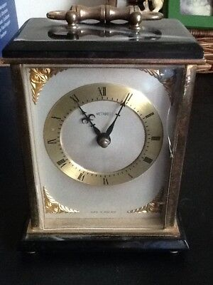 Vintage Metamec Carriage Clock Brass And Faux Onyx • 17.50£
