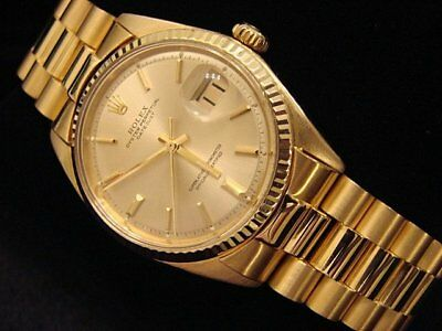$ CDN10166.50 • Buy Mens Rolex Solid 18k Yellow Gold Datejust W/Gold Plated President Style Bracelet