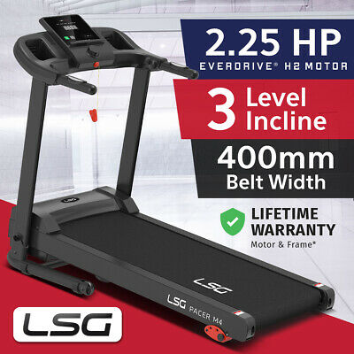 AU379 • Buy NEW LSG Pacer 400mm Belt Electric Treadmill H2 Motor Compact Foldable Home Use