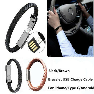 $2.28 • Buy Creative Android Type-c IOS USB Data Cable Wrist Strap Bracelet Charge Cord