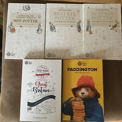2016-2018 Beatrix Potter 50p Fifty Pence Collector Album 10p Pence Coin NEW • 14.99£