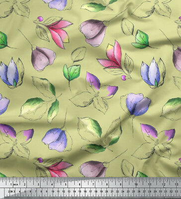 Soimoi Fabric Artistic Leaf & Floral Print Fabric By The Meter-FL-909E • 7.60£