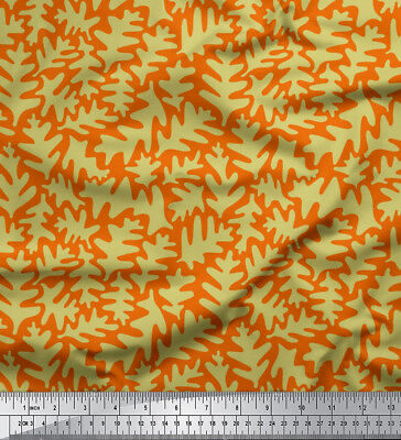 Soimoi Fabric Leaves Leaves Decor Fabric Printed Meter-LF-610I • 7.60£