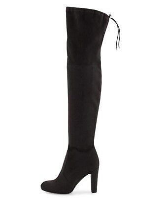 3ac4d5602458f3 Sam Edelman Kent Suede Over The Knee High Heel Boot Black Size 10 Us • 80.75