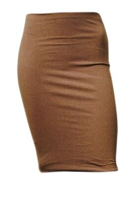 £3.27 • Buy Womens Ex H&M BodyCon STRETCH Fit Knee Length Skirt Light Brown Size 8 To 16