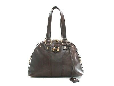 Authentic Yves Saint Laurent Brown Leather Muse Bag • 221.51£