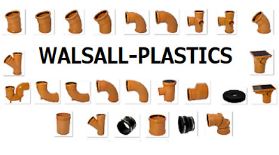 Underground Drainage 110mm Pipe Bends, Traps, Bottle Gully FREE P&P OVER £30 • 2.50£