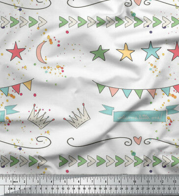 Soimoi Fabric Welcome Little One Kids Print Fabric By The Meter-KD-570I • 7.60£