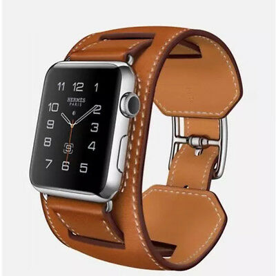 $ CDN20.61 • Buy Cow Leather Watch Strap Band Belt For IWatch Apple Watch 1/2/3 Series 38/44mm