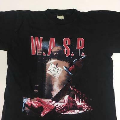 £203.90 • Buy Wasp 1992 Tour T Shirt Large Men Crimson Idle Very Rare Graphic Tee W.a.s.p. F/s