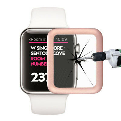 $ CDN5.67 • Buy For Apple Watch Series 1/2/3 38/42mm Tempered Glass Full Edge Screen Protector