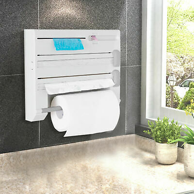 AU29.99 • Buy 6in1 Wall Mounted Kitchen Rack Towel Holder Foil Roll Organizer Film Dispenser