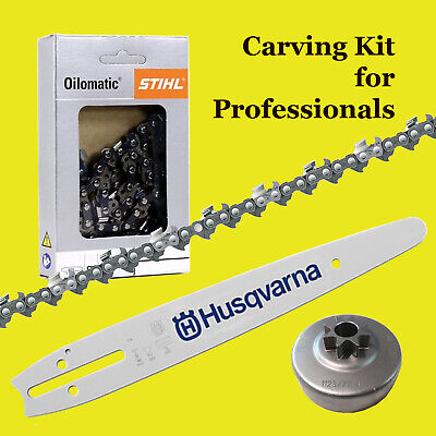 10  Carving Kit To Fit Stihl Inc Husky Dim Tip Bar 1/4 Sprocket And 1/4 Chain  • 79£