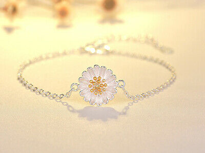 Gold And Silver Tone Daisy Chain Bracelet • 3.69£