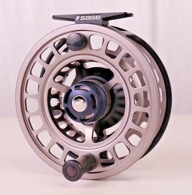 $500 • Buy Sage Spectrum Max Fly Reel 9/10 Squid Ink/Silver FREE LINE - BACKING - SHIPPING