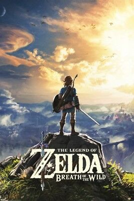 $8.99 • Buy The Legend Of Zelda Breath Of The Wild Hyrule Video Gaming Poster - 24x36