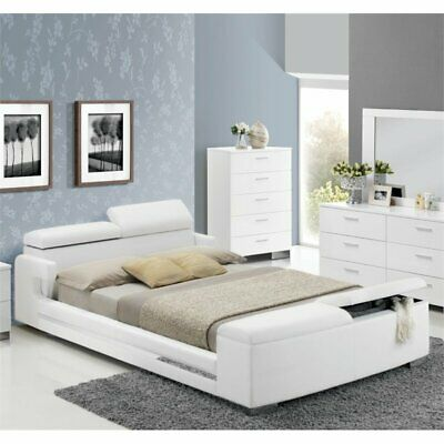 $734.52 • Buy Bowery Hill Queen Storage Bed In White