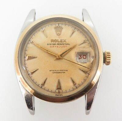 AU19990 • Buy .rare 1953 Rolex 6304 Oyster Perpetual Datejust Tropical Ovettone 18k S/s Watch