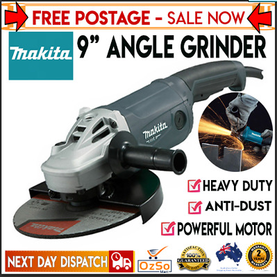 AU193.55 • Buy Makita 9  Angle Grinder 230mm 9 Inch Powerful 2000W Cord M9001G Trigger Switch