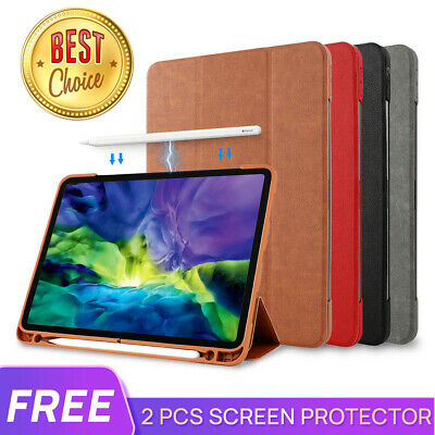 AU25.99 • Buy For IPad Pro 9.7 10.5 11 12.9 IPad 8 7 10.2 Leather Case Cover Pencil Charging