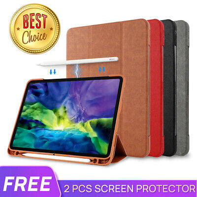 AU24.69 • Buy For IPad Pro 9.7 10.5 11 12.9 IPad Air 8 10.2 Leather Case Cover Pencil Charging